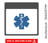 medical life star calendar page ... | Shutterstock .eps vector #504255799