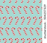 merry christmas candy cane.... | Shutterstock .eps vector #504257329