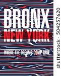 bronx  new york city poster.... | Shutterstock .eps vector #504257620
