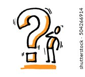 stick man with question mark....   Shutterstock .eps vector #504266914