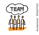 stick people team. word team.... | Shutterstock .eps vector #504267523
