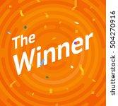 winer sign. congratulations win ... | Shutterstock .eps vector #504270916