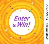 winer sign. congratulations win ... | Shutterstock .eps vector #504270970