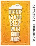 beer glass logo design concept... | Shutterstock .eps vector #504271150