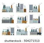 factory decorative flat icons... | Shutterstock .eps vector #504271513