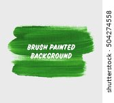 textured brush painted... | Shutterstock .eps vector #504274558