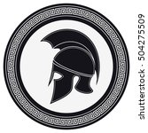 ancient greek helmet with a... | Shutterstock .eps vector #504275509