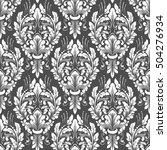 vector damask seamless pattern... | Shutterstock .eps vector #504276934