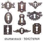 vintage keyholes collection... | Shutterstock . vector #504276964