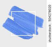 textured brush painted... | Shutterstock .eps vector #504278020