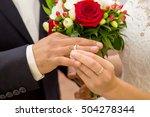 wedding couple . the bride... | Shutterstock . vector #504278344