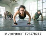 athletic group of fit multi... | Shutterstock . vector #504278353
