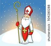 Saint Nicholas On Snowy...