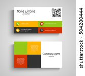 business card with colored... | Shutterstock .eps vector #504280444