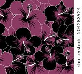 seamless vector tropical design ... | Shutterstock .eps vector #504283924