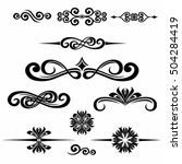 collection of hand drawn... | Shutterstock .eps vector #504284419
