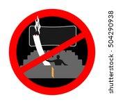 no smoking in cinema. red sign... | Shutterstock .eps vector #504290938