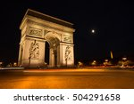 triumphal arch. paris. france.... | Shutterstock . vector #504291658