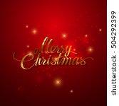 merry christmas. holiday vector ... | Shutterstock .eps vector #504292399