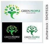 green people design template ... | Shutterstock .eps vector #504293326