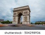 arc de triomphe in paris  france | Shutterstock . vector #504298936