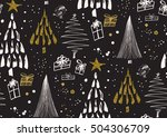 vector seamless pattern with... | Shutterstock .eps vector #504306709