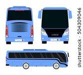 vector blue bus template...   Shutterstock .eps vector #504309046