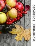 Harvest Of Juicy Autumn Apples...