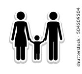 conventional family pictogram... | Shutterstock .eps vector #504309304