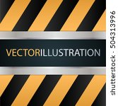 metal sliding doors. technical... | Shutterstock .eps vector #504313996