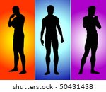 three boys silhouette | Shutterstock .eps vector #50431438