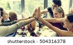 teamwork power successful... | Shutterstock . vector #504316378