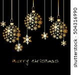 christmas ball made from... | Shutterstock .eps vector #504316990