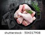 raw chicken legs | Shutterstock . vector #504317908
