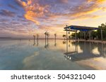 cairns lagoon at sunrise | Shutterstock . vector #504321040