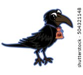 illustration with sweet raven... | Shutterstock .eps vector #504321148