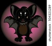 illustration with sweet black... | Shutterstock .eps vector #504321289