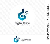 colorful letter d logo design... | Shutterstock .eps vector #504323338
