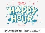 happy hour  web banner  header... | Shutterstock .eps vector #504323674