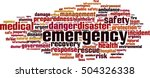 emergency word cloud concept.... | Shutterstock .eps vector #504326338