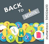 back to school abstract...   Shutterstock .eps vector #504326650