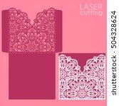 die laser cut wedding card... | Shutterstock .eps vector #504328624