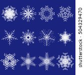 set of snowflakes. collection... | Shutterstock .eps vector #504329470