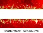 blank banner on red christmas... | Shutterstock . vector #504332398
