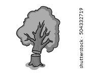 falling tree icon in monochrome ... | Shutterstock .eps vector #504332719