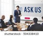 customer mobile communication... | Shutterstock . vector #504338410