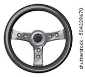 steering wheel icon.... | Shutterstock .eps vector #504339670