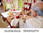 amazing hindu wedding ceremony. ... | Shutterstock . vector #504341074