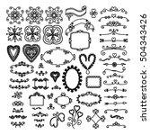 ornate frames and floral... | Shutterstock .eps vector #504343426