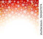 red christmas background with... | Shutterstock . vector #504347074